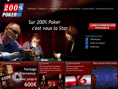 200% Poker - Site légal en France
