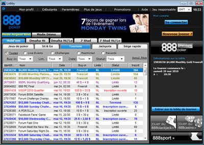 Logiciel 888 Poker