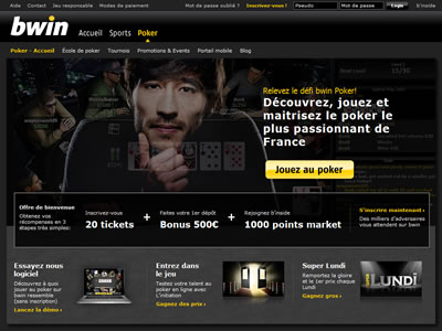 Bwin Poker - Site légal en France