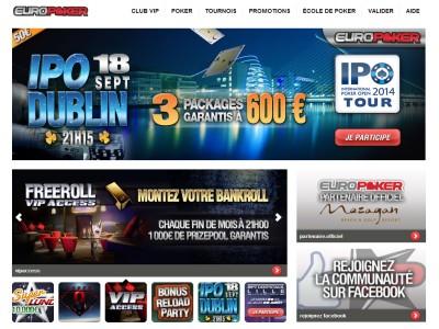 EuroPoker - Site légal en France