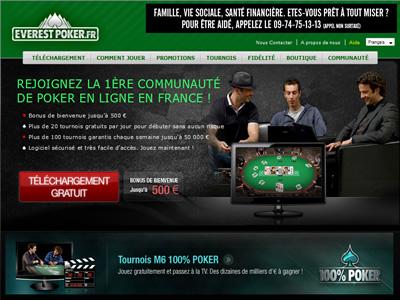 Everest Poker - Site légal en France