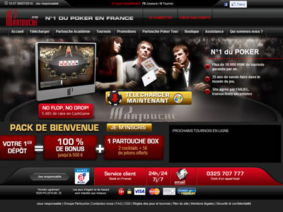 Partouche Poker - Site légal en France