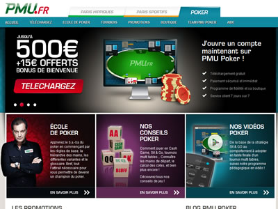 PMU Poker - Site légal en France
