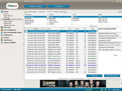 Logiciel PMU Poker