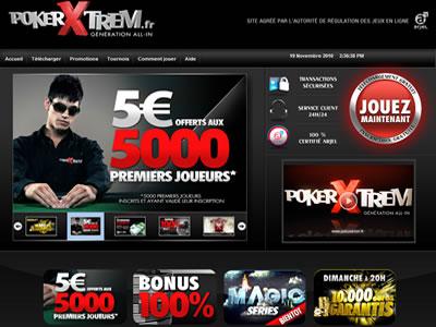 PokerXtrem - Site légal en France