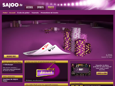 Sajoo Poker - Site légal en France