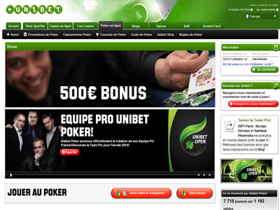 Unibet Poker - Site légal en France