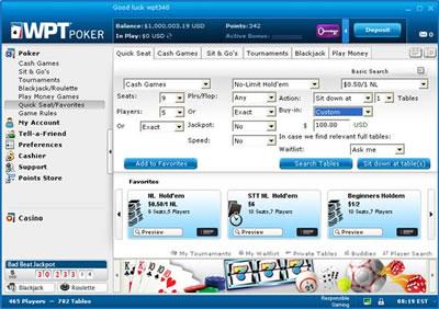 Logiciel WPT Poker